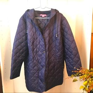 NWOT Woman Within Quilted, Hooded Coat